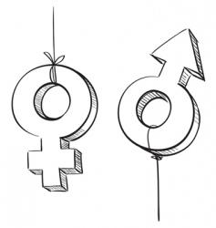 3D symbols vector image