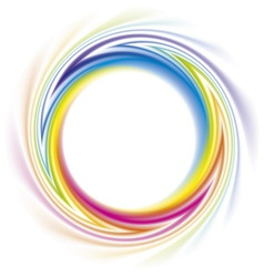 Abstract frame of spiral curled rainbow spectrum vector