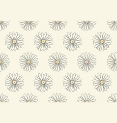abstract seamless pattern hand drawn line flower vector image