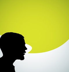 Abstract speaker silhouette vector