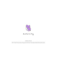 abstract woman female pregnant for maternity logo vector image