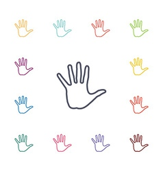arm flat icons set vector image