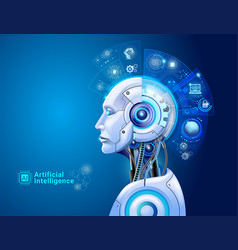 artificial intelligence digital technology vector image