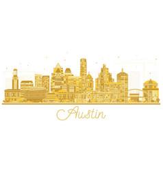 Austin texas usa city skyline silhouette vector