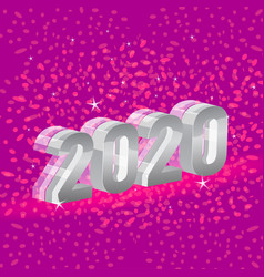 Beautiful colors happy new year 2020 date number vector