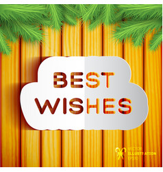 Best wishes template vector