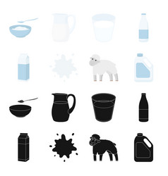 Billet pack sheepblue canistermoloko set vector