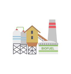 Bio fuel energy factory vector