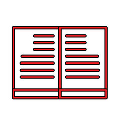 Book perfect icon or pigtogram in filled style vector