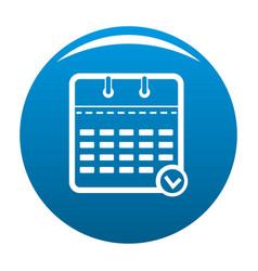 calendar modern icon blue vector image
