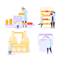Cheese food production industry commercial vector