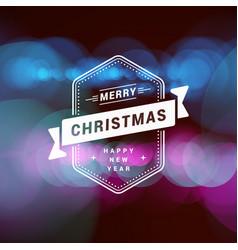christmas greeting card vintage christmas vector image