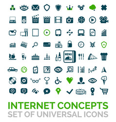 collection of universal internet concept vector image