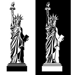 drawing statue liberty usa symbol vector image