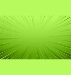 Empty green comic style zoom lines background vector