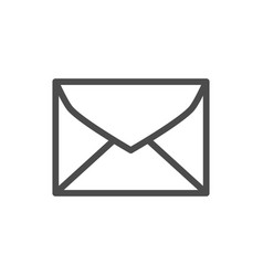 envelope line outline icon and mail symbol vector image