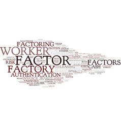 Factor word cloud concept vector