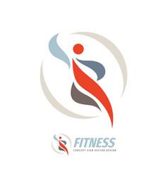 fitness human logo design on white background vector image