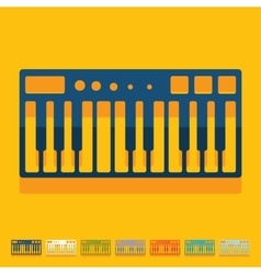 Flat design synthesizer vector