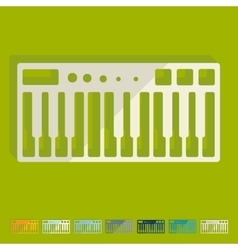 Flat design synthesizer vector image