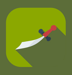 Flat modern design with shadow icons dagger vector