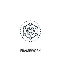 Framework concept line icon simple element vector