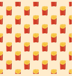french fries - seamless pattern vector image