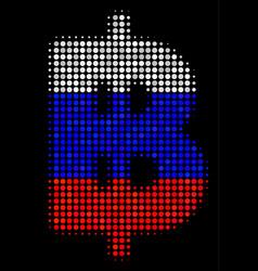 Halftone russian baht icon vector