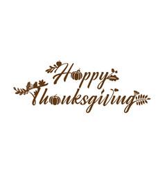 Happy thanksgiving lettering vegets vector