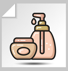 Icons of beauty cosmetics 20 vector