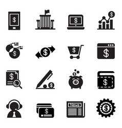 internet banking icons vector image