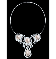 Jewelry necklace vector image
