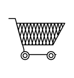 line online shopping car electronic store vector image