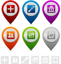location markers vector image
