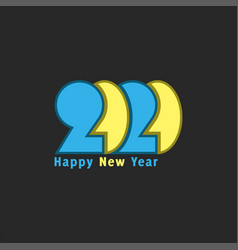 logo 2020 number and text happy new year vector image
