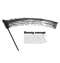 Mascara brush stroke beauty background vector image