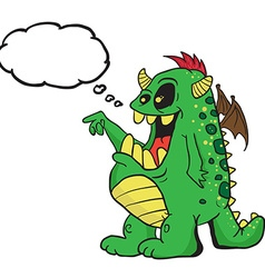 monster with thought bubble vector image