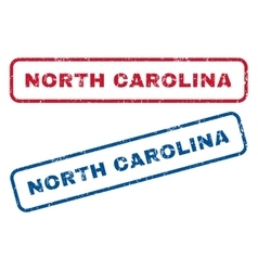 North Carolina Rubber Stamps vector image