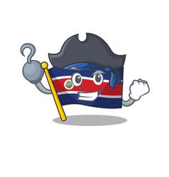 One hand pirate flag costa rica scroll cartoon vector