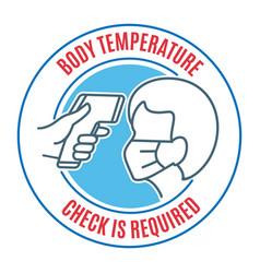 people body temperature control icon vector image