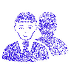 Person shadow icon grunge watermark vector