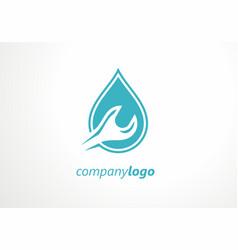 Plumbing logo key tool water sewage water pipe fa vector