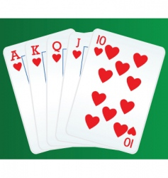 poker and cards vector image