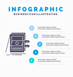 Pos accounting sale system files infographics vector