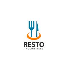 Resto logo template design vector