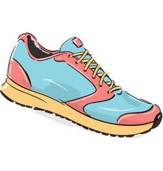 Running shoe fashion style vector