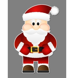 Santa Claus isolated on a grey background vector image