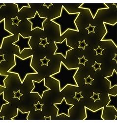 Seamless neon stars background vector image