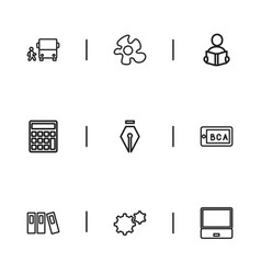 Set of 9 editable teach icons includes symbols vector