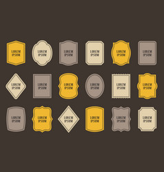 Set of product label templates different shapes vector